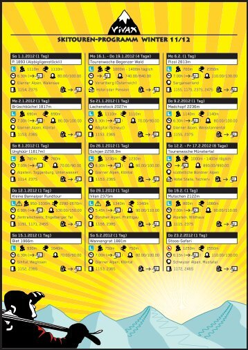 PDF Vivax-Skitourenprogramm 2011/2012