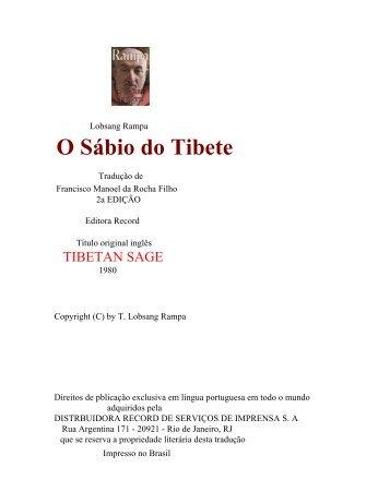 O Sábio do Tibete - Associação de Pesquisa Ovni