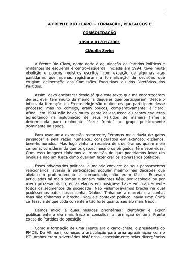Zerbo - Frente Rio Claro - Claudio Di Mauro
