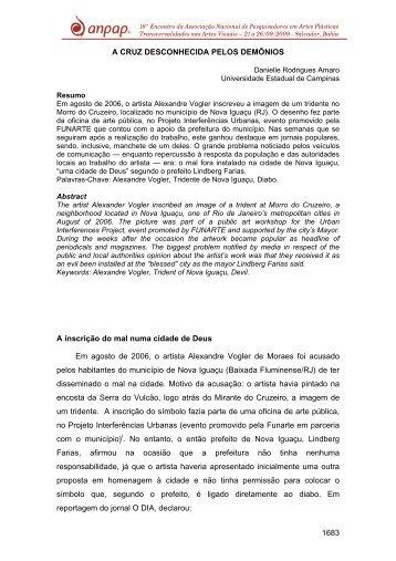 1683 A CRUZ DESCONHECIDA PELOS DEMÔNIOS A ... - anpap