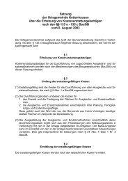 Satzung der Ortsgemeinde Kettenhausen über die Erhebung von ...