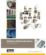 Miniature Multimedia Valves - Parker