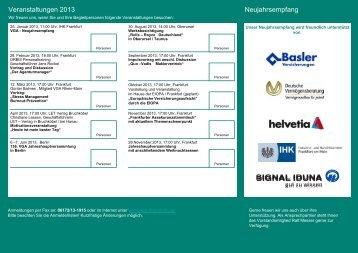 Veranstaltungs-Flyer 2013 - VGA