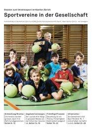 Sportvereine in der Gesellschaft - Fachstelle Sport - Kanton Zürich