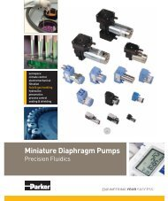 Miniature Diaphragm Pumps - Parker