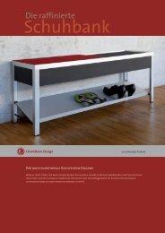 Schuhbank - Chamäleon Design AG