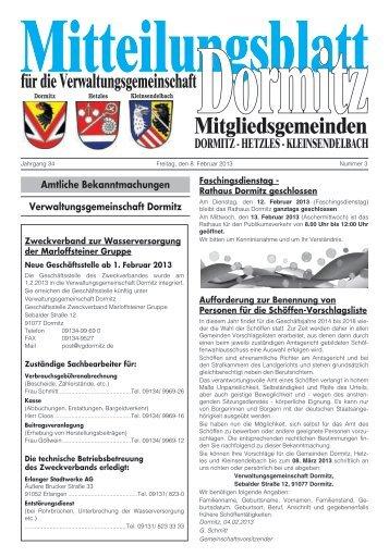 Kalenderwoche 06 - der VG Dormitz