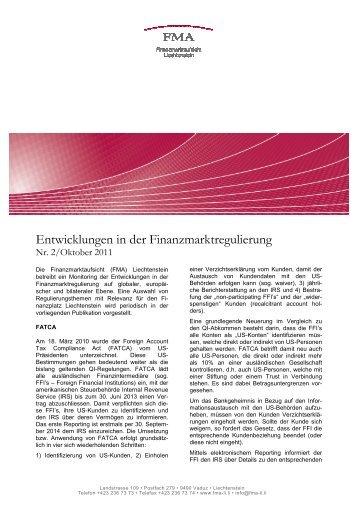 Entwicklungen in der Finanzmarktregulierung