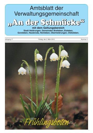 """Amtsblatt Nr. 04 vom 02.03.2012 - Verwaltungsgemeinschaft """"An der ..."""
