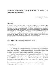 POLIFONIA, DIALOGISMO E GÊNEROS - UNIFIA - www.unifia.edu.br