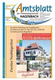 Zweites Neub$rgerfest - Stadt Hagenbach
