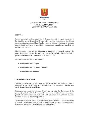 COLEGIO SAN JUAN EL PRECURSOR CARTA COMPROMISO ...