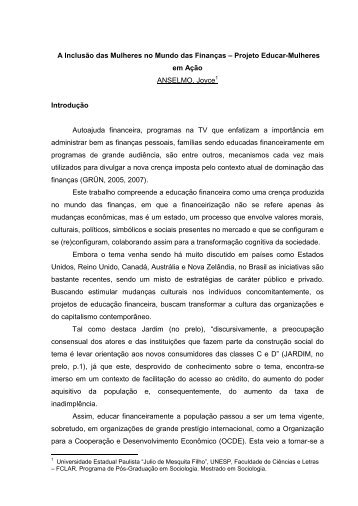 Joyce Anselmo A Inclusão das Mulheres no Mundo das Finanças