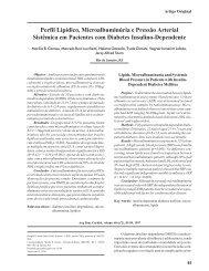 Perfil Lipídico, Microalbuminúria e Pressão Arterial Sistêmica em ...