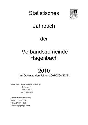 Statistisches Jahrbuch der Verbandsgemeinde Hagenbach 2010