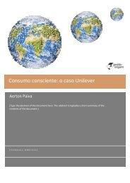 Consumo consciente: o caso Unilever