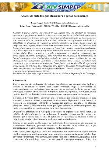 Análise de Metodologias Atuais para a Gestão da ... - BPM LAB