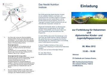 Einladung - IMC Fachhochschule Krems Gmbh