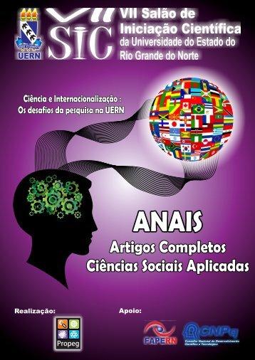 Anais VII SIC - Ciências Sociais Aplicadas - UERN