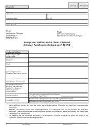 Anzeige einer Wallfahrt nach § 29 Abs. 2 StVO und Antrag auf ...