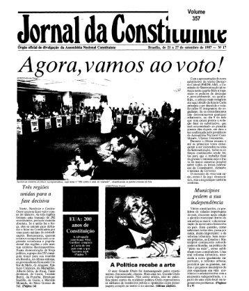 Jornal da Constituinte - Câmara dos Deputados