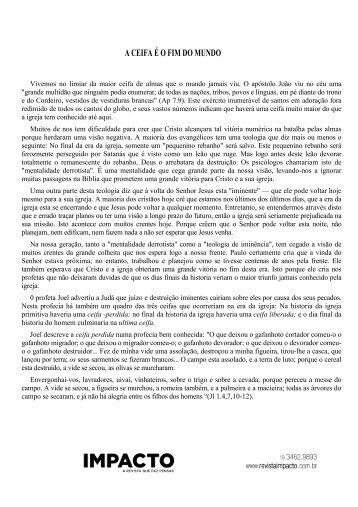 A CEIFA É O FIM DO MUNDO - Revista Impacto
