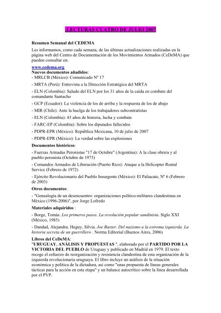 LECTURAS CUATRO DE JULIO 2007.pdf - Insumisos