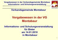Vergabewesen in der Verbandsgemeinde Montabaur Informations