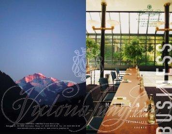 Business Brochure - Hotel Victoria-Jungfrau