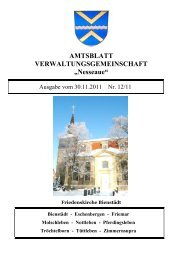 AMTSBLATT VERWALTUNGSGEMEINSCHAFT ... - VG