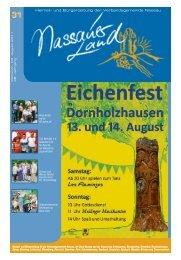 Mitteilungsblatt Ausgabe 31 - 2011 - Verbandsgemeinde Nassau