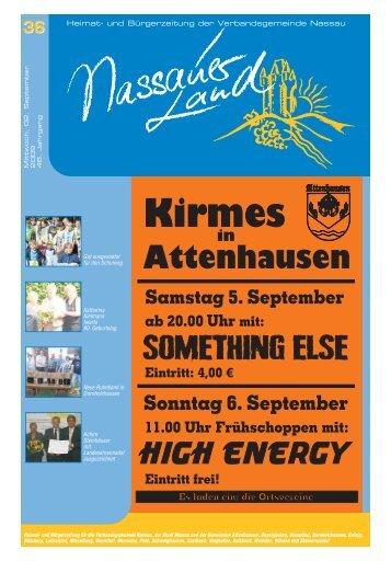 Mitteilungsblatt Ausgabe 36 - Verbandsgemeinde Nassau