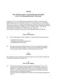Satzung über die Benutzung der ... - VG Rennsteig