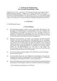 1. Änderung der Hauptsatzung Schmiedefeld - VG Rennsteig