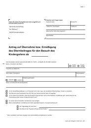 Kindergartens ab Antrag auf Übernahme bzw. Ermäßigung des ...