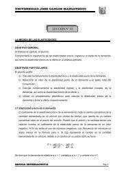 La Medida de las Elasticidades. - Universidad José Carlos Mariátegui