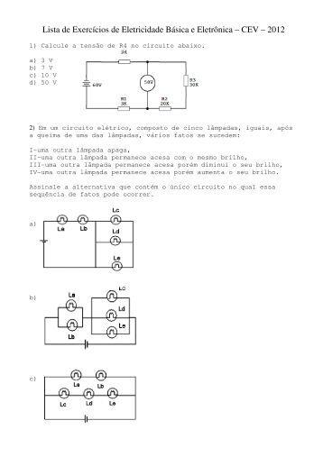 Circuito Rlc Serie Exercicios Resolvidos : Exercicios resolvidos circuitos rlc eletronica basica