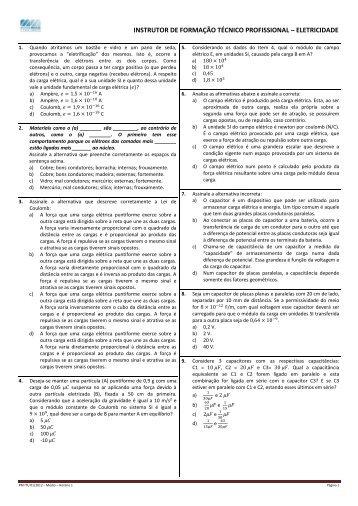 instrutor de formação técnico profissional – eletricidade - Moura Melo