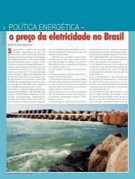 o preço da eletricidade no Brasil - Revista Engenharia