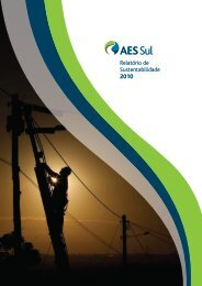 Relatório de Sustentabilidade 2010 - AES Sul