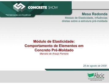 Mesa Redonda Módulo de Elasticidade: Comportamento ... - ABCIC