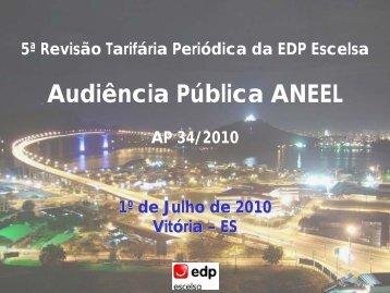 5ª Revisão Tarifária Periódica da EDP Escelsa - Aneel