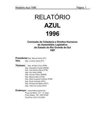 Relatório Azul 1996 – Direitos Humanos no RS - DHnet