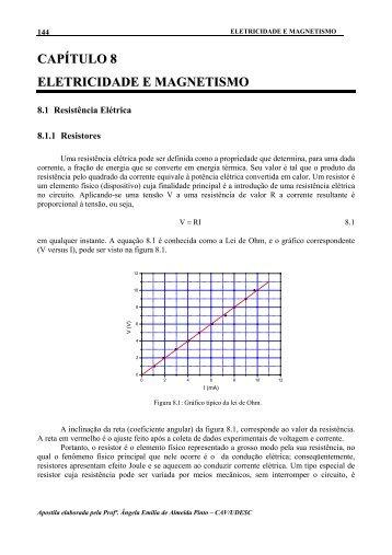 CAPÍTULO 8 ELETRICIDADE E MAGNETISMO - Udesc