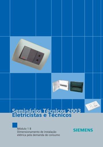 Seminários Técnicos 2003 Eletricistas e Técnicos ... - Electra