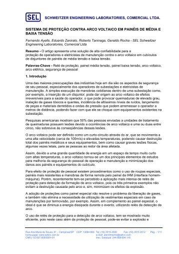 schweitzer engineering laboratories, comercial ltda. sistema - SEL