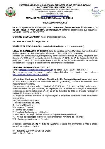 contratação de prestação de serviços de eletricista para eventos do ...