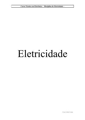 Eletricidade - Universidade de Passo Fundo