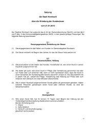 Satzung der Stadt Hornbach über die Erhebung der Hundesteuer ...