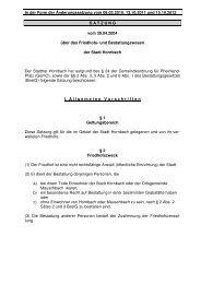 Hornbach Satzung.Neu